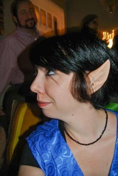 jillian wearing elf ears