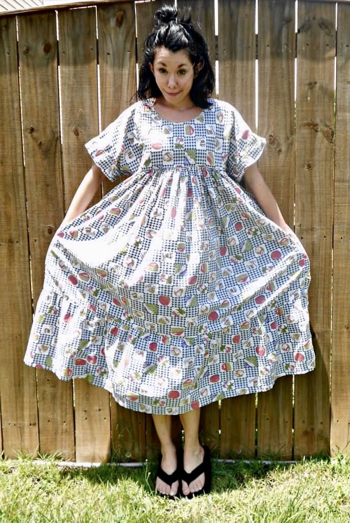 fab foodie housedress refashion before