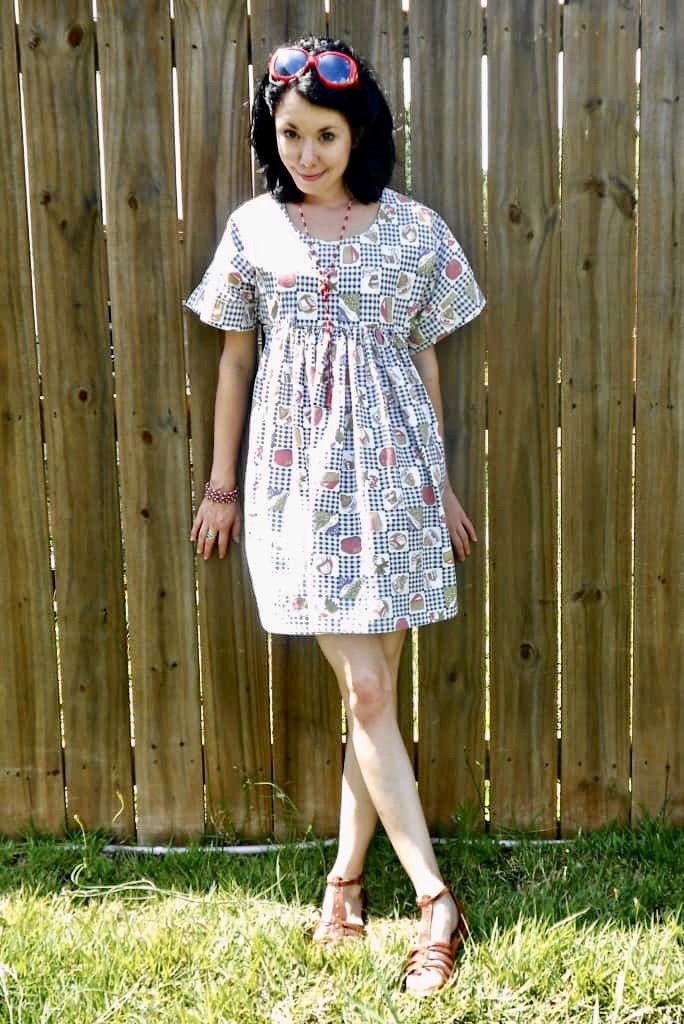 fun foodie housedress refashion after