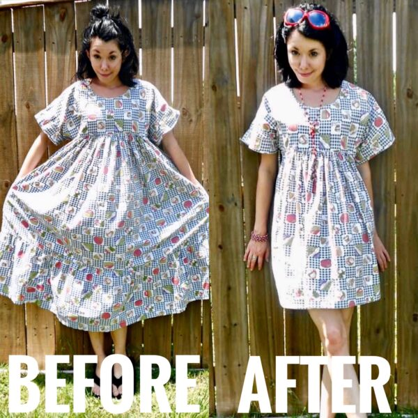 refashionista fun foodie housedress refashion before and after
