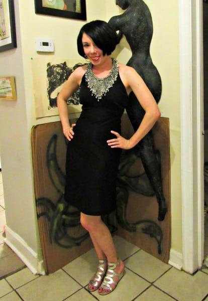 refashionista 1970s Formal Dress Refashion after