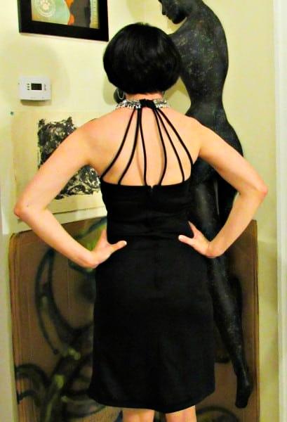 refashionista 1970s Formal Dress Refashion after back