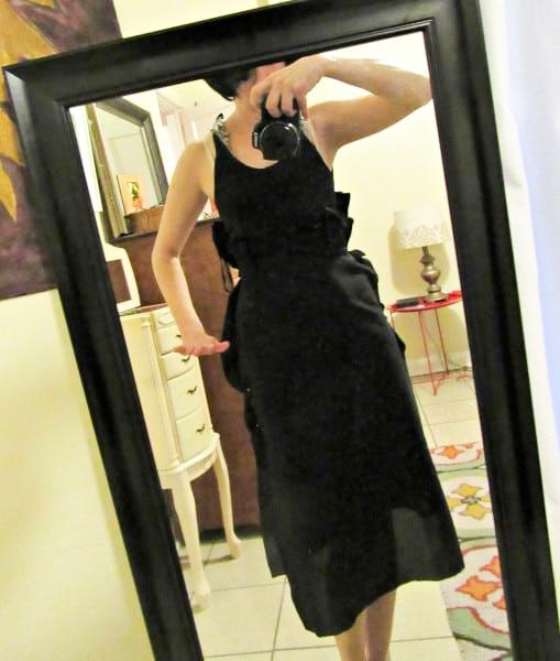 fitting dress on myself