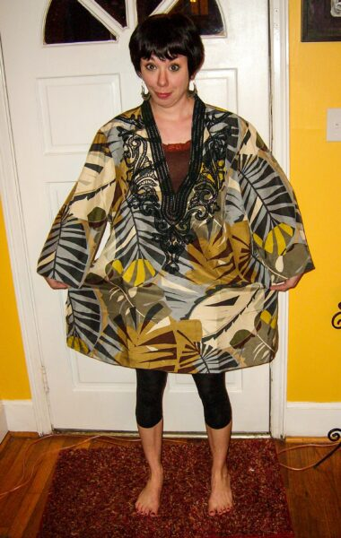 Tunic Top to Dress Refashion before