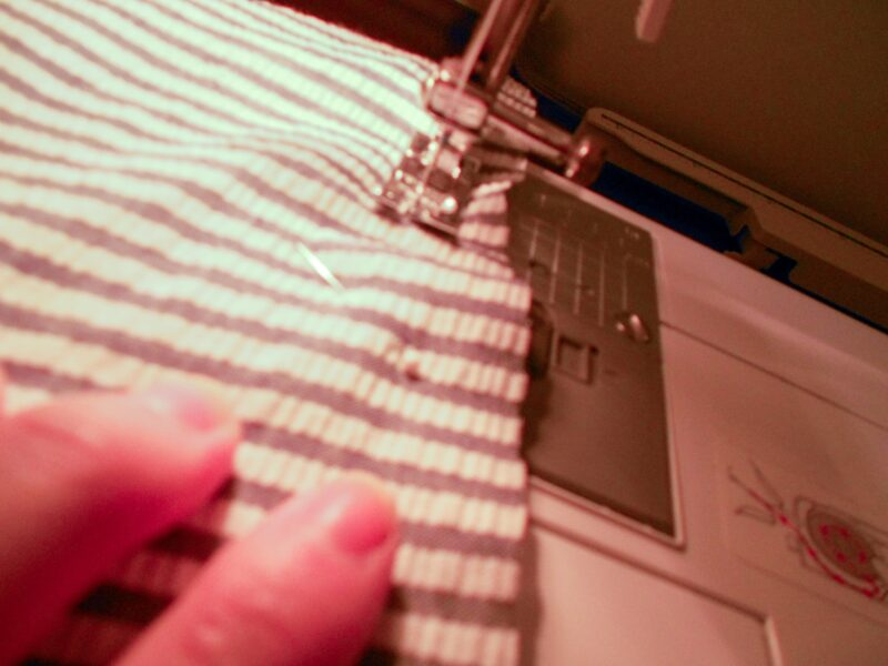 sewing sash with sewing machine