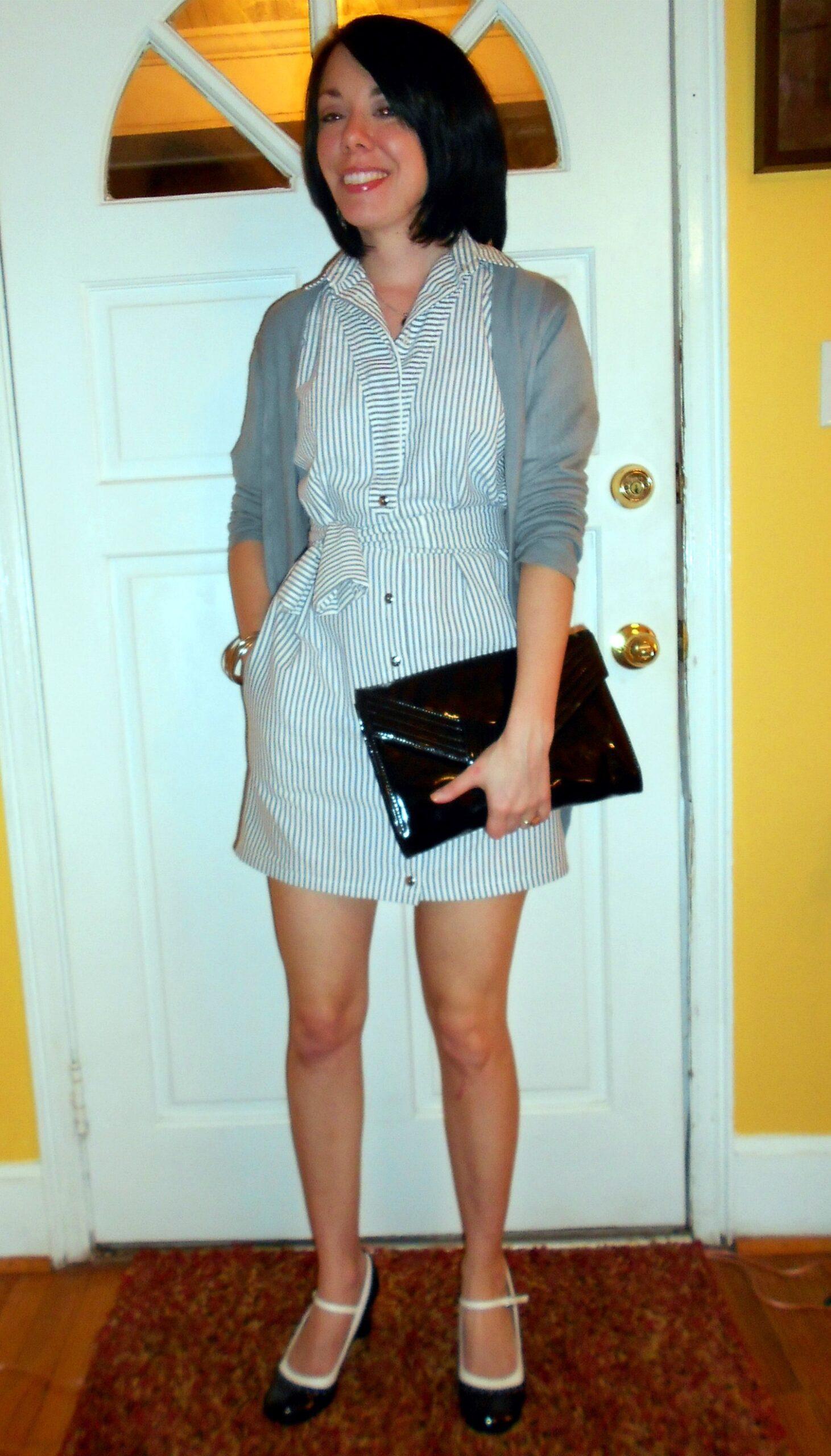 '80s Seersucker Dress Refashion after