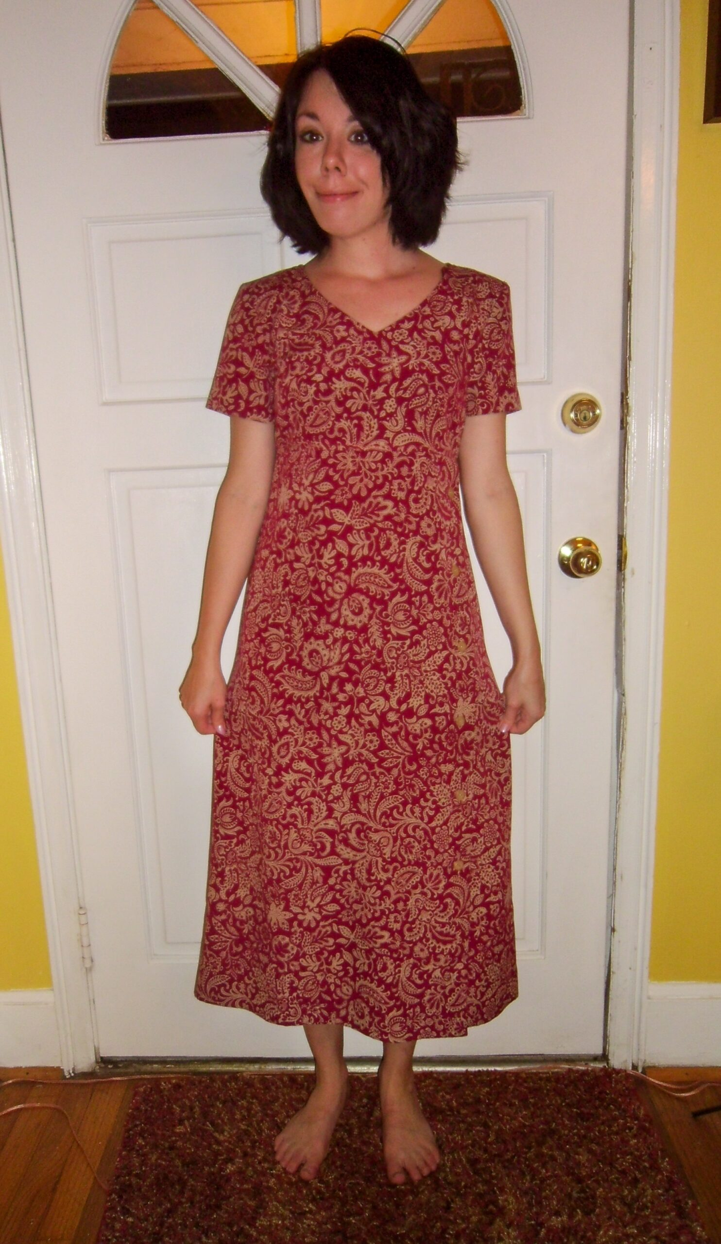 Shortening a Thrift Store Dress Before