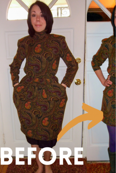 Plucky in Paisley Dress Refashion Pin 2
