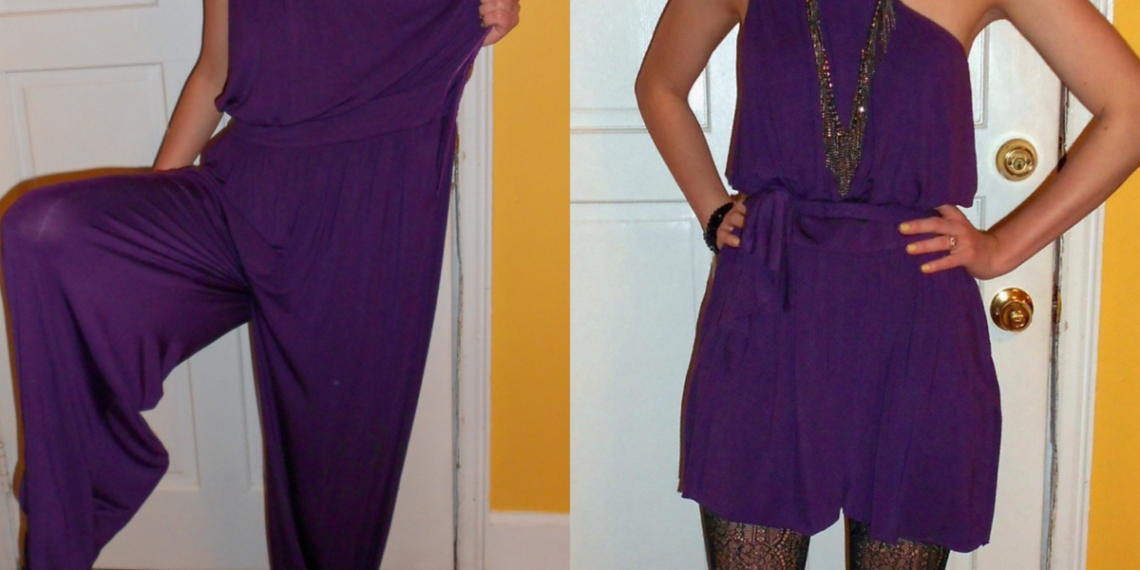 dress from a jumpsuit refashion featured image