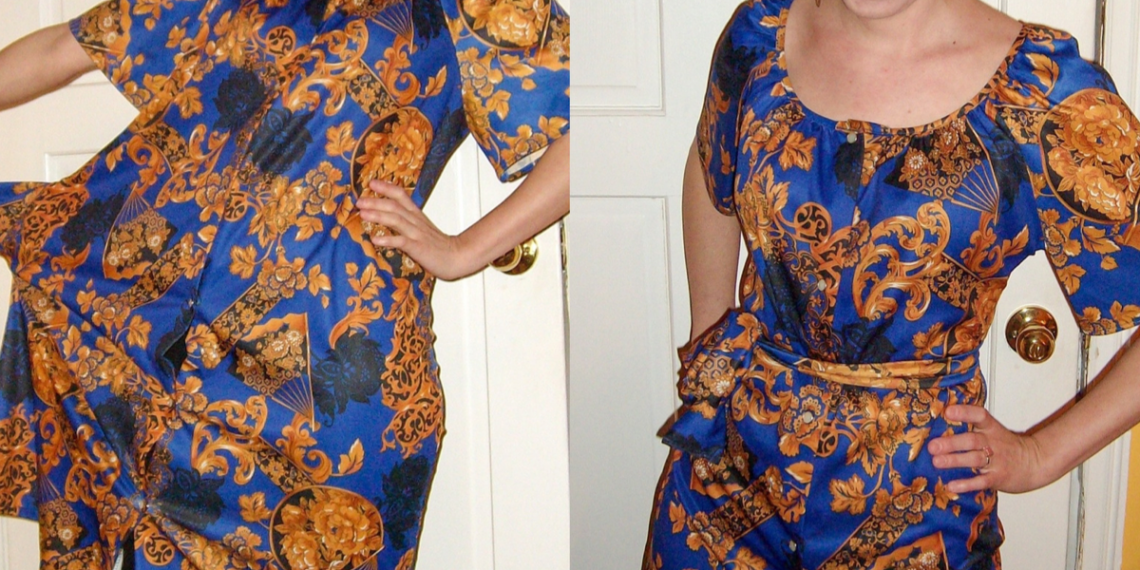 Muumuu to Art Show Dress Refashion