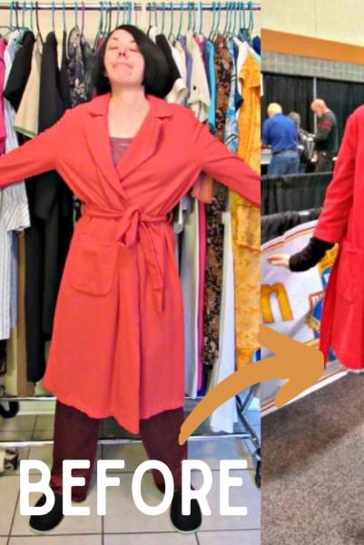 refashionista vintage bathrobe refashion pin 2