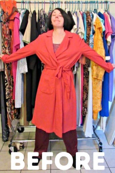 refashionista vintage bathrobe refashion pin 6