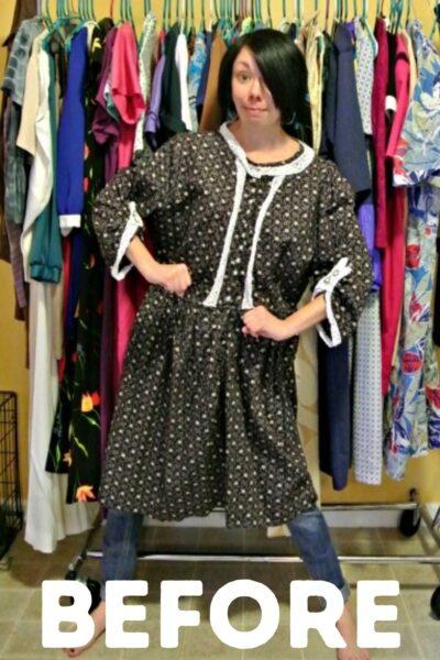 refashionista Refashioning a badly handmade dress Pin 1