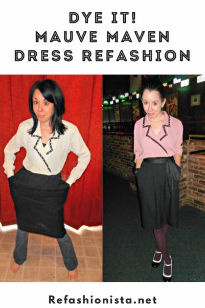 refashionista Dye It: Mauve Maven Dress pin 3