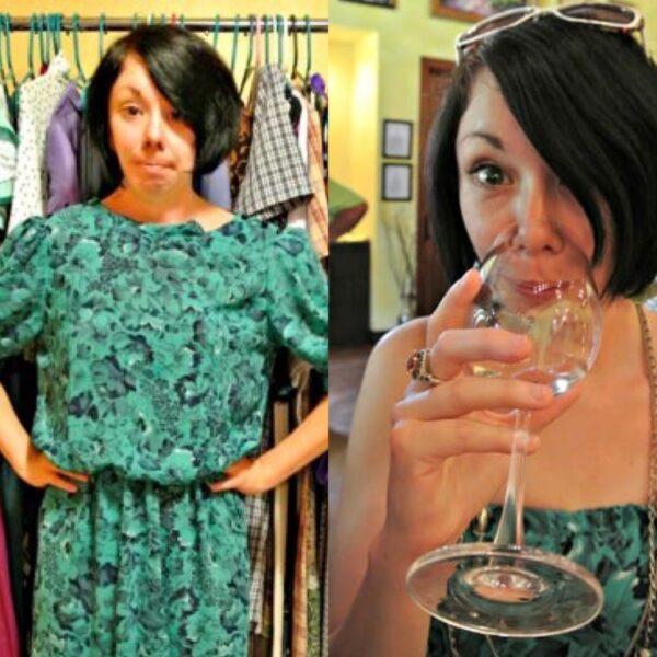 DIY Strapless Dress Georgia Winery Refashion Pin 7