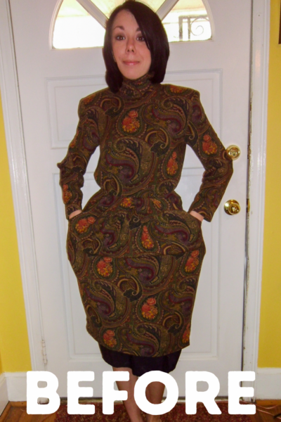 Plucky in Paisley Dress Refashion featured image