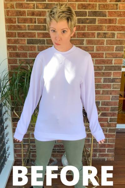 How to Crop a Sweatshirt Pin 2