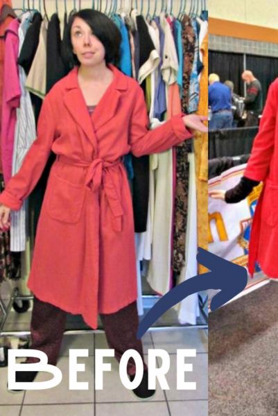 refashionista vintage bathrobe refashion pin 3