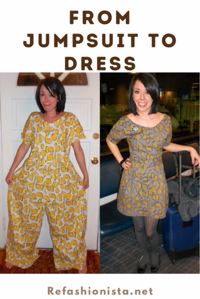 Tacky Jumpsuit to Dress Refashion Pin 6