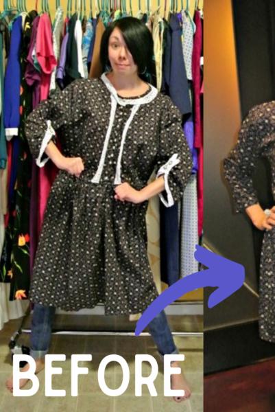 refashionista Refashioning a badly handmade dress Pin 2