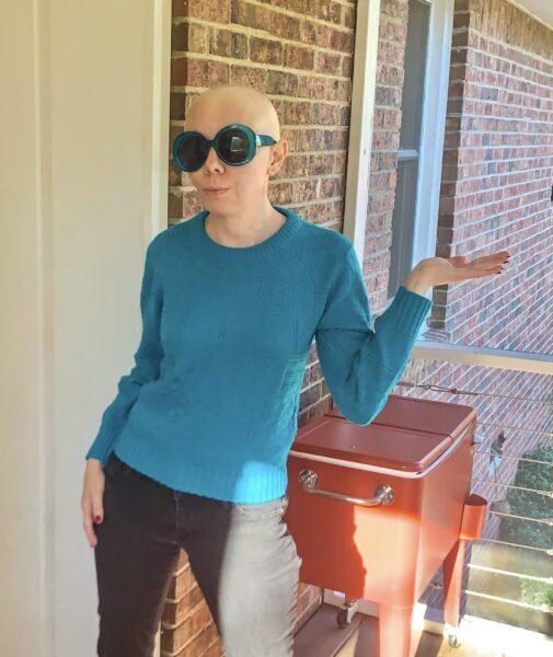 DIY Prada Sweater Dupe before