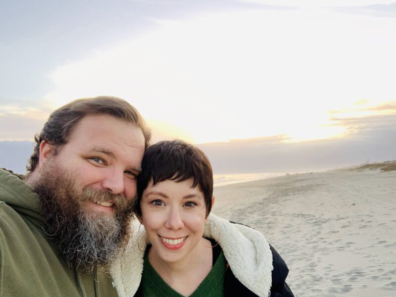 Jillian and Brian by the ocean