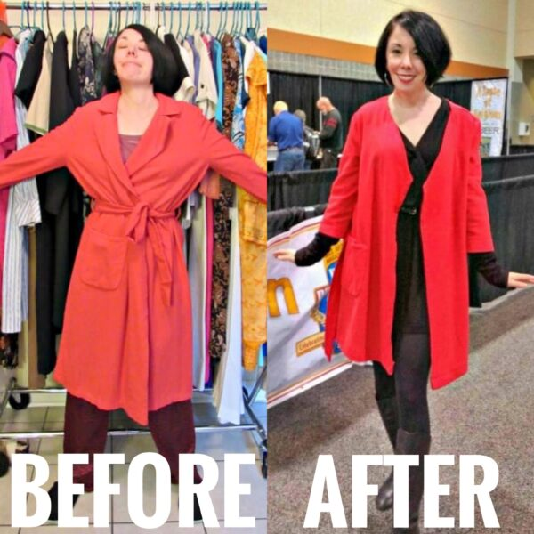 refashionista vintage bathrobe refashion before and after