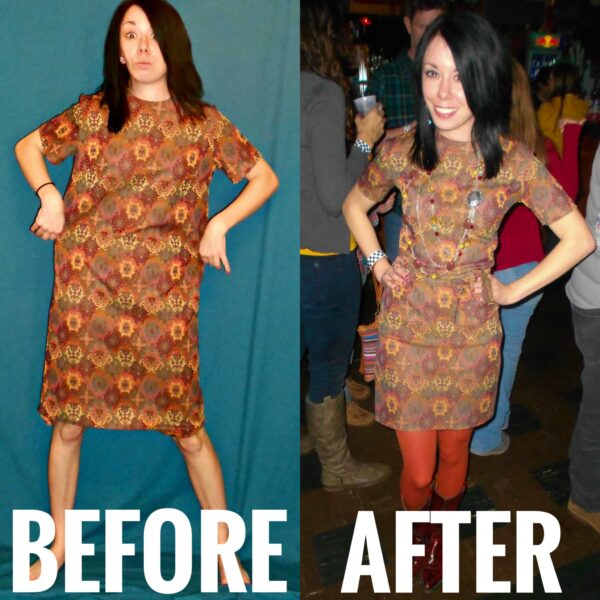 refashionista Of Montreal Dress Refashion before and after