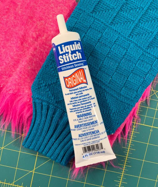 bottle of liquid stitch fabric glue