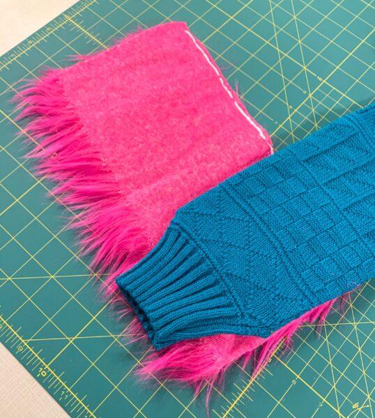 adding sleeve to fur