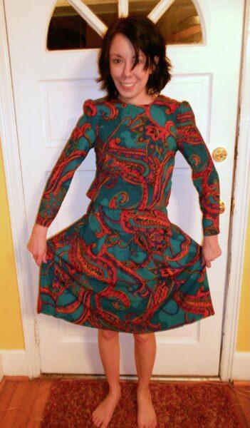 Side Tie No Sew Dress Refashion Before