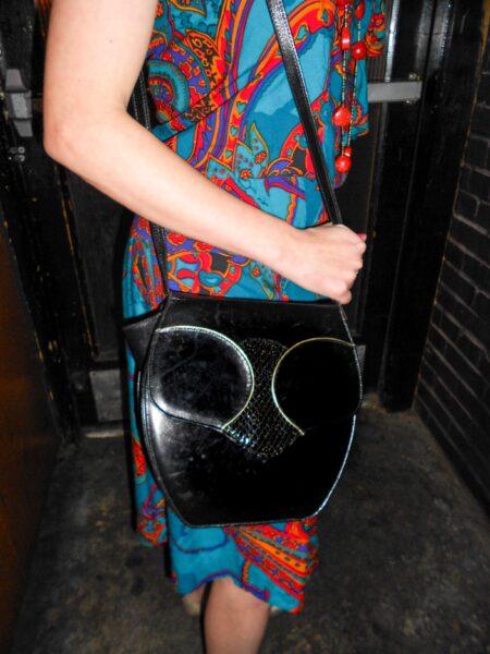 close up of owl handbag