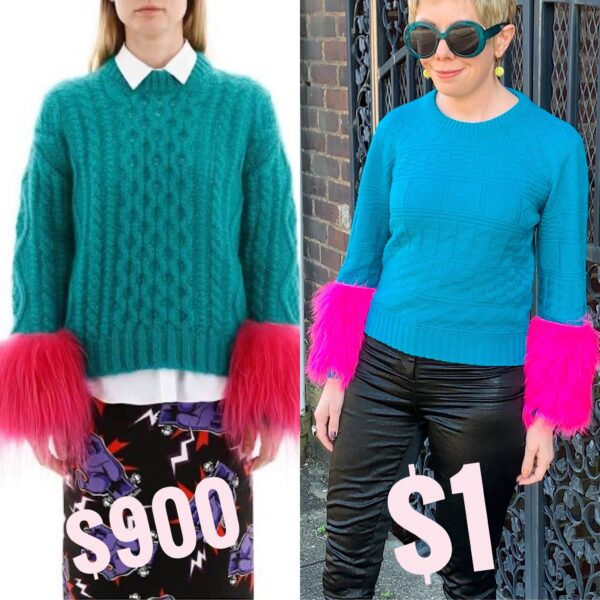 inspiration prada sweater and diy side by side