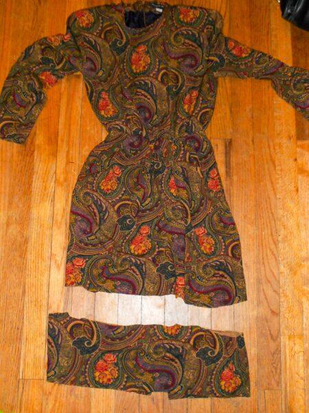 cut off bottom hem from dress