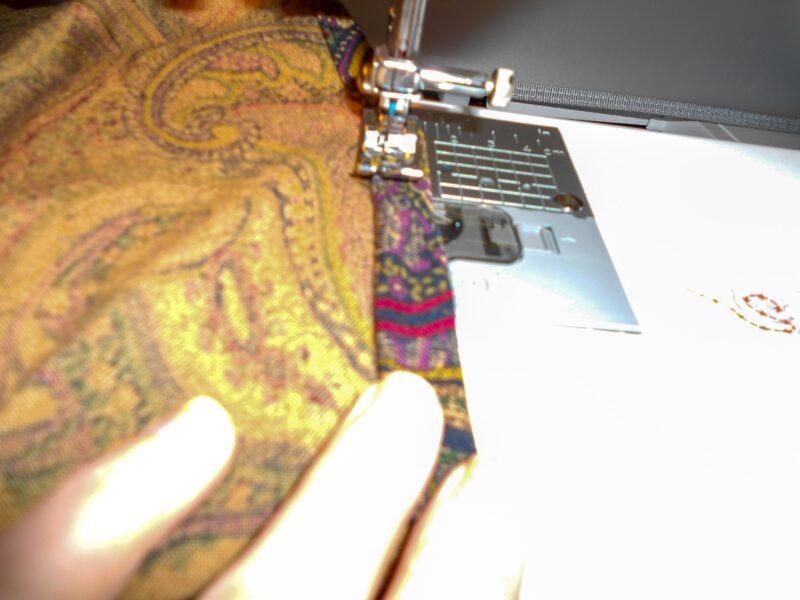 sewing bottom hem of dress