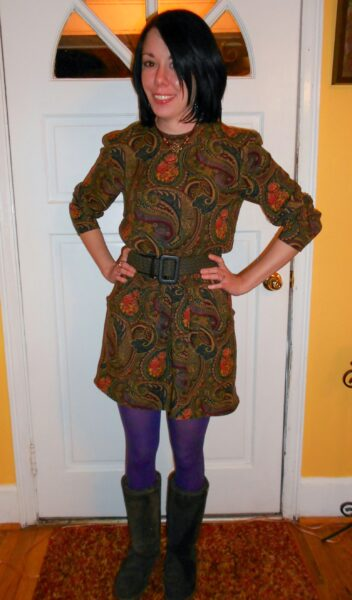 Plucky in Paisley Dress Refashion after