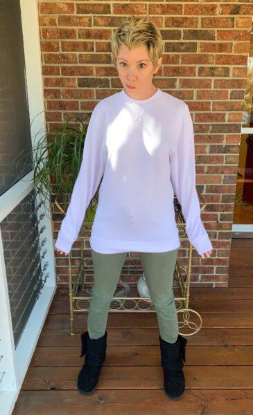 refashionista how to crop a sweatshirt before