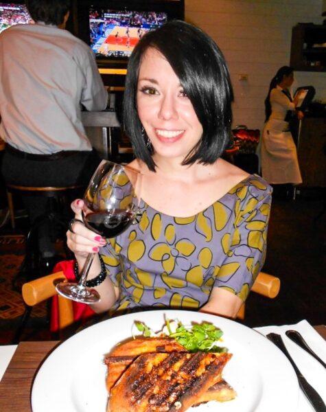 jillian with glass of wine