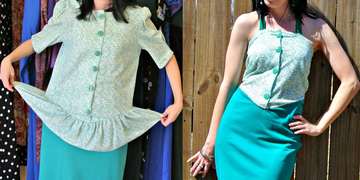 refashionista how to remove a peplum from a dress featured image
