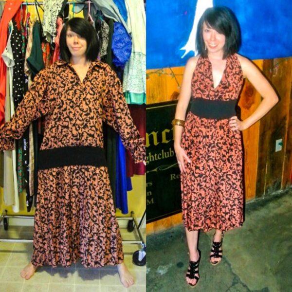 refashionista Halter Dress Refashion with Vintage Flair pin 5