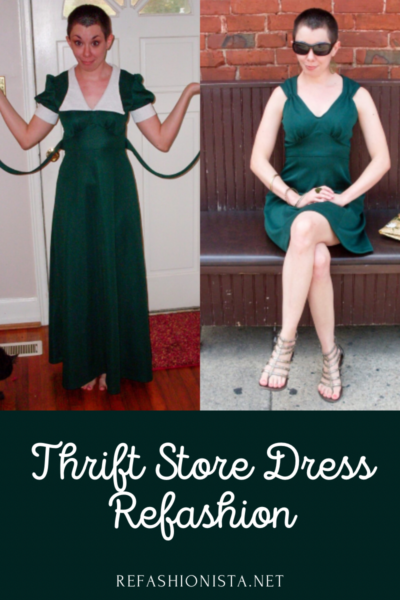 green with envy dress refashion pin 5