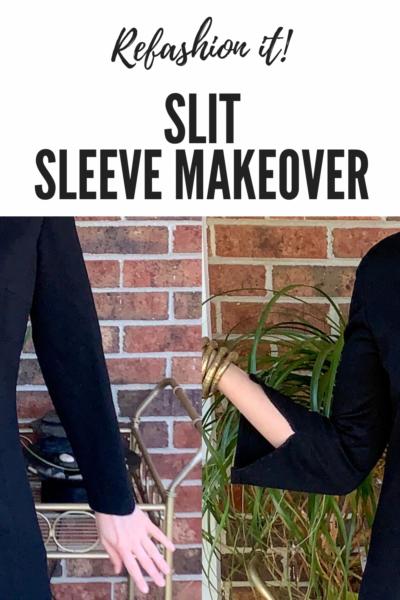 Slit Bottom Sleeve Dress Refashion Pin 7