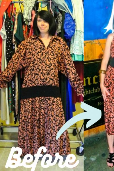 refashionista Halter Dress Refashion with Vintage Flair pin 2