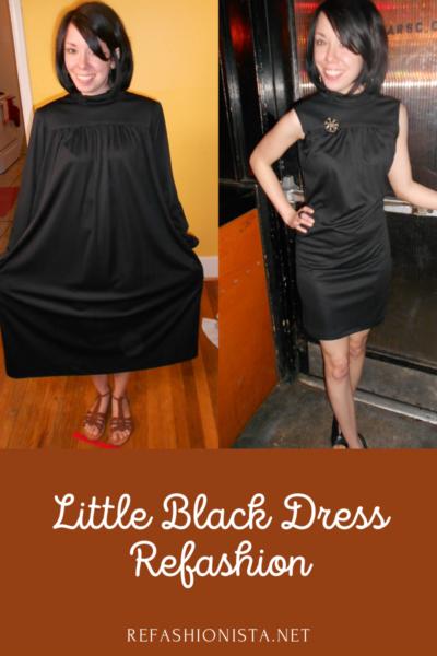 little black dress refashion pin 5