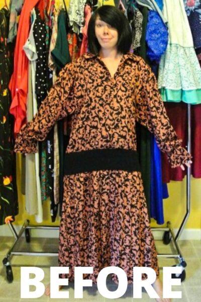 refashionista Halter Dress Refashion with Vintage Flair pin 1