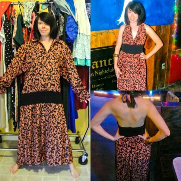 refashionista Halter Dress Refashion with Vintage Flair pin 4