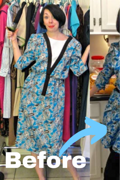 Kimono Dress Refashion pin 2