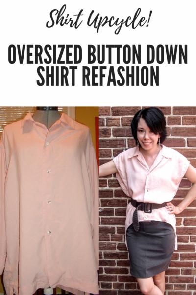 Oversized Button Down Shirt Refashion Pin 2