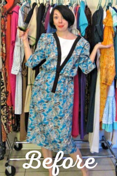 Kimono Dress Refashion pin 1