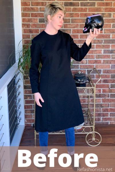 Slit Bottom Sleeve Dress Refashion Pin 2